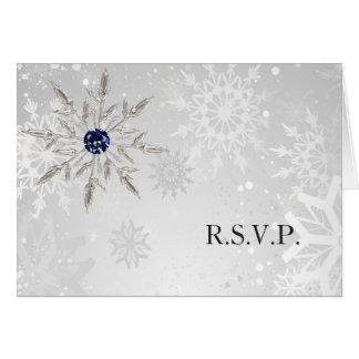 bröllop OSA för vinter för silvermarinsnöflingor Hälsningskort