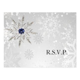 bröllop OSA för vinter för silvermarinsnöflingor Vykort