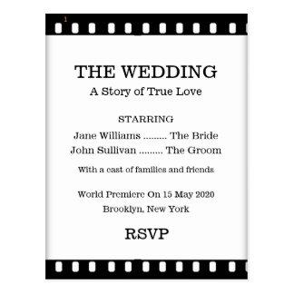 Bröllop OSAvykortet med en film filmar tema Vykort
