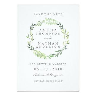 Bröllop spara datum för kran för 12,7 x 17,8 cm inbjudningskort