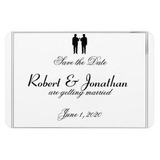 Bröllop spara datum för regnbågeelegansbrudgum magnet
