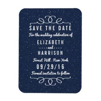 Bröllop spara datum för Starry natt Magnet