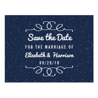 Bröllop spara datum för Starry natt Vykort