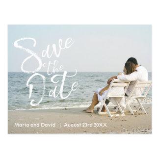 Bröllop spara datum vykort