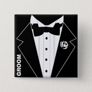 Bröllop ungkarlparty, svensexa standard kanpp fyrkantig 5.1 cm