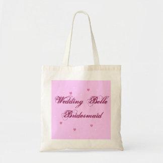 BröllopBellebrudtärnan hänger lös Budget Tygkasse
