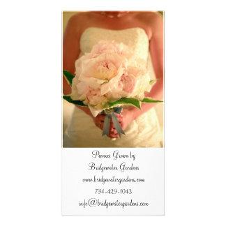 Bröllopblomsterhandlarevisitkort Fotokort