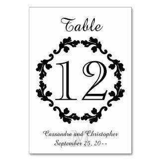 Bröllopbordsnummer Bordsnummer
