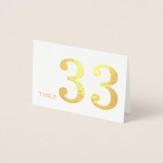Bröllopbordsnummer Folierat Kort