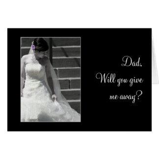 Bröllopbrud Hälsningskort