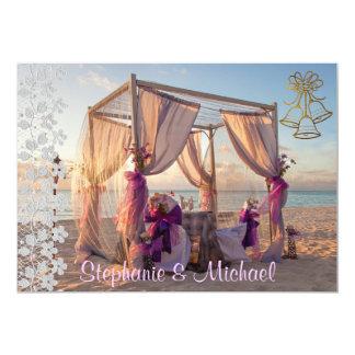 BröllopCabana på strandbröllopinbjudan 12,7 X 17,8 Cm Inbjudningskort