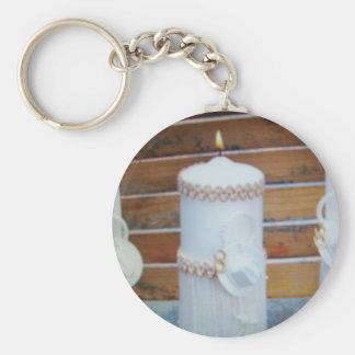 bröllopcandels rund nyckelring