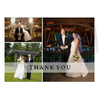 BröllopfotoCollage - tack Kort