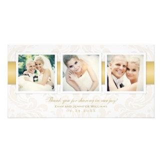 Bröllopfototack Cards | tre foto Anpassade Foto Kort