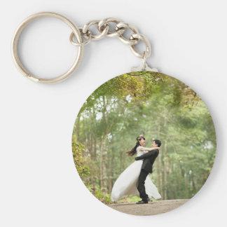 Bröllopgåva Rund Nyckelring