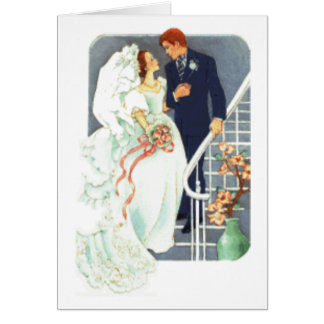 Bröllopgåvatack Hälsningskort
