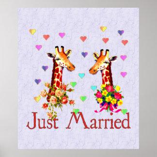 Bröllopgiraff Affischer