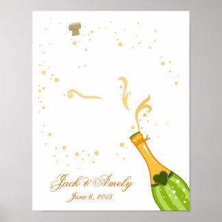 Bröllopguestbooken identifierar med fingeravtryck poster