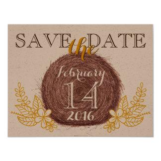Bröllophöbaler SPARAR DATERAkortet 10,8 X 14 Cm Inbjudningskort