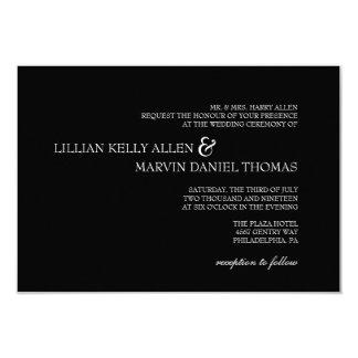 Bröllopinbjudan   dem  blk 8,9 x 12,7 cm inbjudningskort