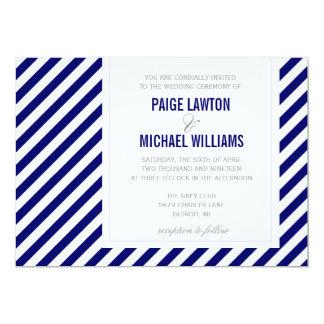 Bröllopinbjudan | diagonalt 12,7 x 17,8 cm inbjudningskort