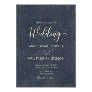 Bröllopinbjudan för Starry natt 12,7 X 17,8 Cm Inbjudningskort