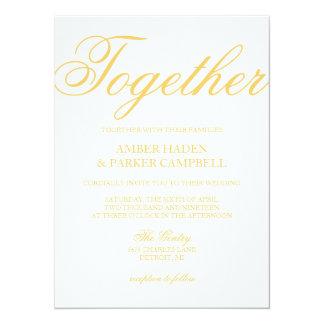 Bröllopinbjudan | tillsammans 14 x 19,5 cm inbjudningskort