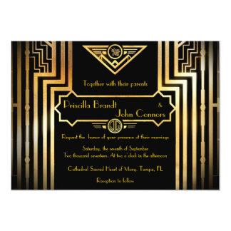 Bröllopinbjudanceremoni, underbar-Gatsby 12,7 X 17,8 Cm Inbjudningskort