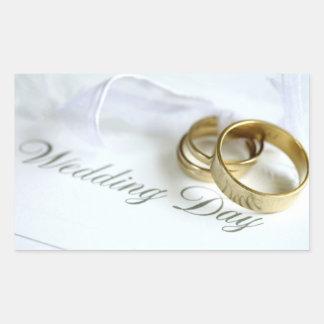 Bröllopinbjudansälar Rektangulärt Klistermärke