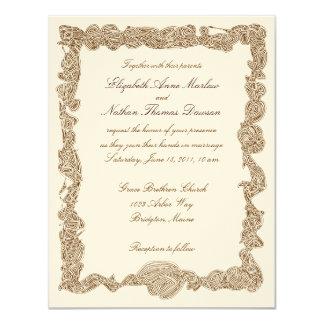Bröllopinbjudningar 10,8 X 14 Cm Inbjudningskort