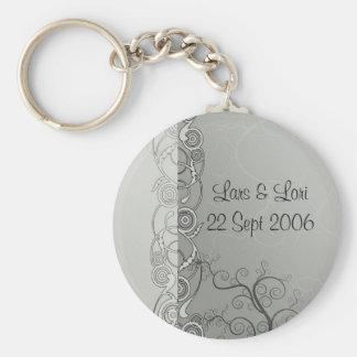 Bröllopkrås Rund Nyckelring