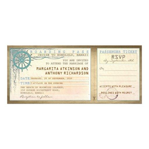 brölloplogipassera-vintage biljetter med OSA Anpassade Inbjudningskort