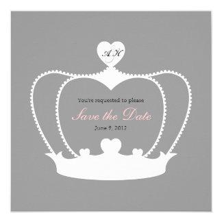 BröllopMonogramspara datum meddelande Fyrkantigt 13,3 Cm Inbjudningskort