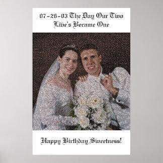 Bröllopmosaik Poster