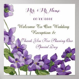 bröllopmottagande, välkommen mottagandeaffisch för affischer
