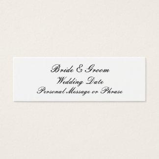 Brölloppåminnelsemellanlägg för inbjudningar litet visitkort