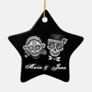 Bröllopprydnad för Los Novios Stjärnformad Julgransprydnad I Keramik