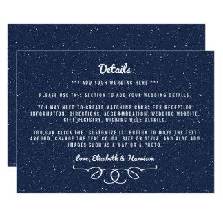 Bröllopsamlingen för den Starry natten - 11,4 X 15,9 Cm Inbjudningskort