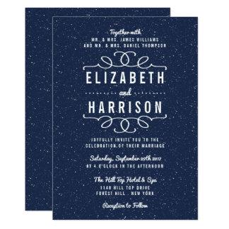 Bröllopsamlingen för Starry natt 12,7 X 17,8 Cm Inbjudningskort