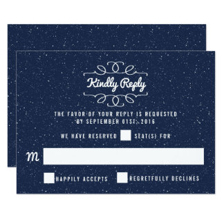 Bröllopsamlingen för Starry natt - OSA 8,9 X 12,7 Cm Inbjudningskort