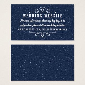 Bröllopsamlingen för Starry natt - Website Visitkort