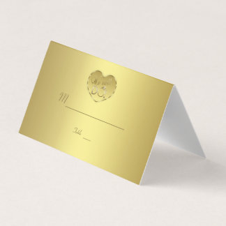 Bröllopsdag för guld 50th som vi stillar GÖR Placeringskort