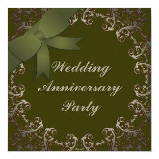 Bröllopsdag Fyrkantigt 13,3 Cm Inbjudningskort