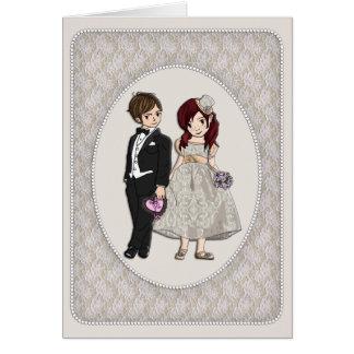 Bröllopsdag Hälsningskort