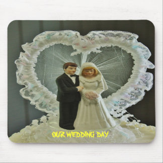Bröllopsdag Mousepad Mus Mattor