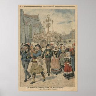 Bröllopsdag på Plougastel Brittany Posters