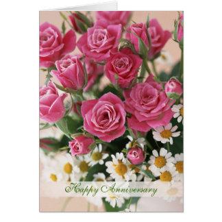 Bröllopsdag - ro och daisy-camomiles hälsningskort