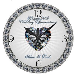 Bröllopsdagen för diamanthjärta 60th tar tid på stor klocka
