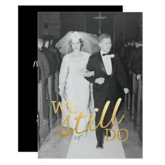 Bröllopsdagfoto för anpassningsbar 56th som vi 12,7 x 17,8 cm inbjudningskort