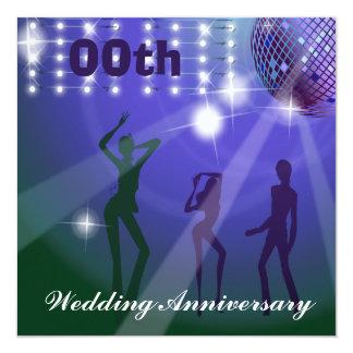 Bröllopsdagpartyinbjudan Fyrkantigt 13,3 Cm Inbjudningskort